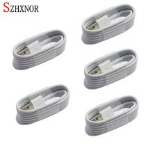 SZHXNOR 5pcs 1M 2M 3M TPE 8 Pin USB Charger powerline Data Sync Cable Cord Wire for iPhone 6 6S 7 Plus 5 5 S 5C SE 7s ipod nano