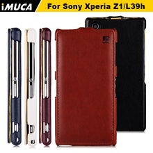 sony xperia z1 case flip leather cover Sony Xperia Z1 L39H C6902 C6903 C6906 iMUCA Case Mobile Phone bag - Communication Co.,ltd store