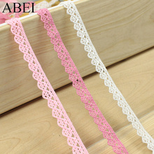 Buy 1cm Cotton Lace Trims DIY Patchwork Cotton Tape Ribbon Handmade Wedding Party Crafts Clothes Edge Sewing Cotton Fabric Material for $1.28 in AliExpress store