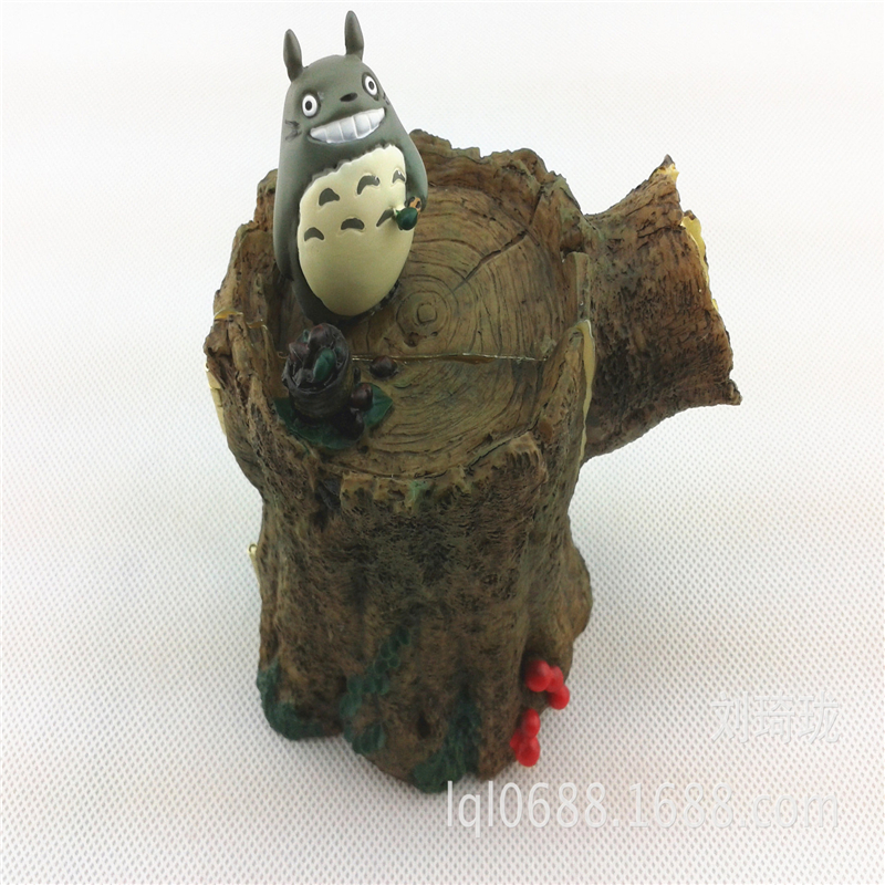 Cute originality  animation toy model Hayao Miyazaki set the tree stump shape Totoro resin give children Christmas toys best <br><br>Aliexpress