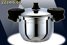 FREE SHIPPING 5.5LITRE PRESSURE COOKER 22CM PRESSURE COOKING POT HIGH QUALITY KITCHEN UTENSIL STEW POT WORK ON INDUCTION COOKER