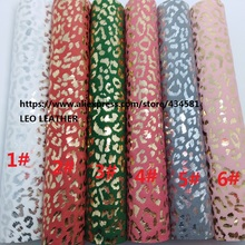 3PCS 21x29cm A4 SIZE Gold and Silver Leopard Fabric PU Leather for DIY accessories 3S04 Can not choose colors(China)