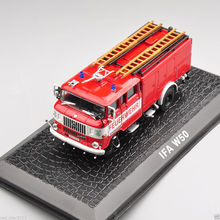 Red 1/72 Diecast Car Model Toys  New German IFA W50 Vehicle Fire Truck Model Kids Collections