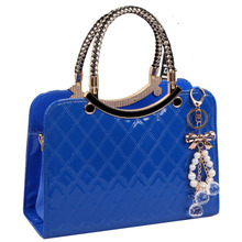 Girls Cute Popular Large Pu Leather Shoulder Bag Ladies Fashion Messenger Chain Plaid Bags New Style Female Classics Handbags - Top Designer Store store