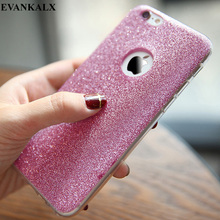 EVANKALX Bling Glitter Phone Case For iphone 5s 5 se Soft TPU Plain Case For iphone 6 6s 7 Cute Capa Cover for iPhone 6s 7 Plus(China)
