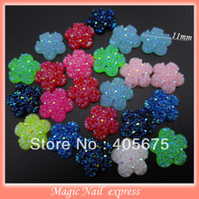 MIX new design glitters 3d nail art supplies flat back resin nail studs rose flower DIY charms nail decorations wholesale