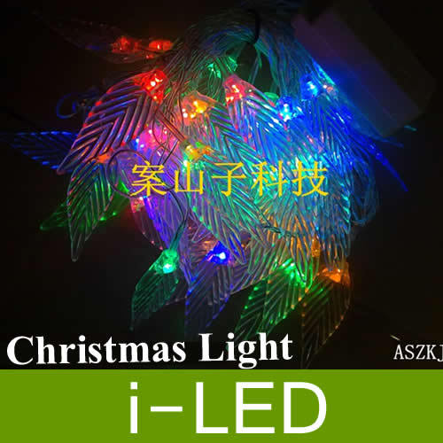 NEW Design!! led fairy lights Decoration crystal leaf with 8 models,5M 50leds led lights for wedding party xmas(China)