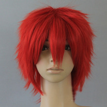 japanese anime Naruto Cosplay Costume wig Akatsuki Akasuna no Sasori Short Red wig carnival costumes cloak