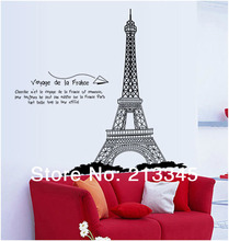 [Fundecor] 120cm high London's famous Eiffel Tower home decorative mural art wall stickers paris wall decal 6629(China)