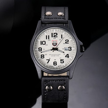1PC Casual Watch Quartz Watch Fashion Belt Military Campaign Calendar High Quality Fast Shipping VICO