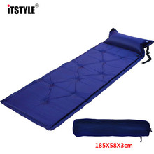 ITSTYLE Camping Single Automatic Inflatable Pad Thickened Anti-moisture Cushion tent inflatable Bed with pillow Can stitched