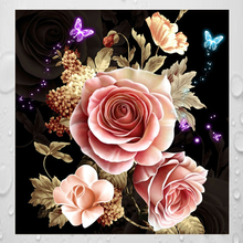 Diamond painting DIY kit kids toy peony flower floral  baby room living room dining hall passage home hotel office shop deco