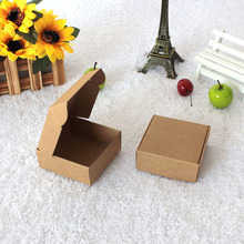 DHL 5.5*5.5*2.5cm Mini Brown Kraft Paper Snack Box Handmade Soap Business Card Gift Party Jewelry Cosmetic Packaging Pack Boxes(China)