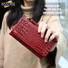 KISSCASE Luxury Crocodile Leather Phone Bags Case For iPhone 7 Plus 6 6S Plus 5S Case For LG G4 G3 Xiaomi Mi5 Universal PU Cover(China)