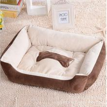 Various Size Large Dog Lounger Bed Kennel Mat Soft Fiber Pet Dog Puppy Warm Soft Bed House Product For Dog And Cat(China)