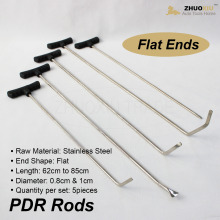 Auto Body Dent Removal Pdr Rod Tool Kit Hail Door Ding metal sheet tools garage workshop equipment pry bar hood hook prybar bars