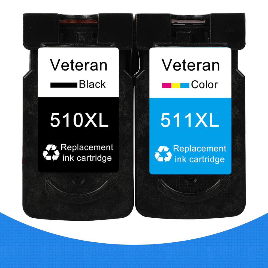 Veteran 510 Cartridge Pixma CL Mp280-Printer MP490 MP230 IP2700 Canon 511 CL511 for PG title=