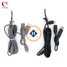 HOTHINK Black / Grey 1.8M USB Play Cable For XBOX 360 / XBOX 360 Slim wired controller repair part(China)