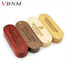 VBNM LOGO customize wooden portable Wood USB Flash Drive pen drive 4GB 8GB 16G 32GB 64GB Memory stick U dick wedding gifts(China)