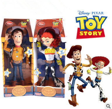 Disney Pixar Toy Story 3 Buzz Lightyear Toys Children Talking Toys Woody Jessie PVC Action Figure Collectable Toy 12 30CM Gift<br>