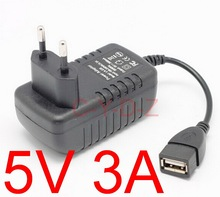 High quality 1 piece USB charger 3A usb power adapter EU Plug 5V 3A travel wall charger+ Free Shipping
