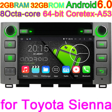 Android 6.0 Car PC DVD Player For Toyota Tundra 2014 2015 GPS Radio Stereo HD Coretex-A53 Octa Core 4X1.6G CPU 2GB RAM 32GB ROM(China)