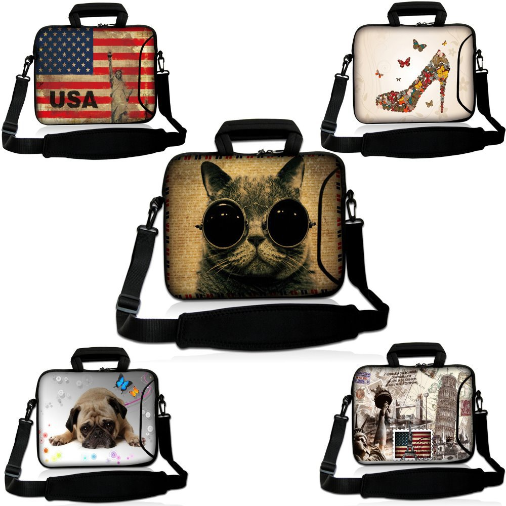 10 New Design Laptop Tablet Carry Sleeve Case Bag Cover w/ Shoulder Strap,Pocket For Samsung Galaxy Note 10.1/Dell XPS 10<br><br>Aliexpress