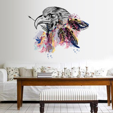Brand 2017 DIY Modern Creative Simple European and American Eagle Removable Wall Stickers TV Sofa Background Wall Decoration(China)