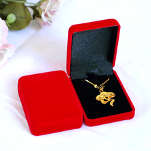 Red Color Square Velvet Box For Pendant & Necklace Jewelry Gift Boxes 12pcs/lot Jewelry Necklace Bracelet Display Box Case