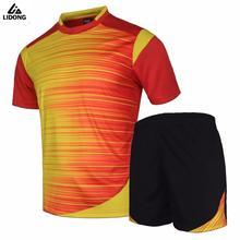 New Soccer Jerseys Men Survetement Football Kits Thai Quality Team Training Suit Blank Custom Sportswear Pockets On Bottoms