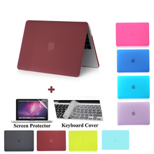 Fashion frosted matte laptop case for Apple macbook 11 12 13 15 inch Air Pro Retina cover bag &2016 new model A1706/A1707/A1708(China)