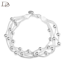 white 585 gold color bead chain wrap bracelet women female wristband bracelet jewelry snap magnetic hand accessories INE108