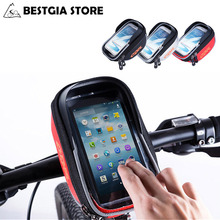 5.5 Inch Bicycle Waterproof Handlebar Bag Cycling Outdoor Sports Pannier Frame Front Tube Pouch Bags Phone Bike Accessories