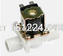 "1/2 ""BSPP 2-way nylon plastic gravity solar normally closed solenoid valve 220 vac air gas water machine washing machine"