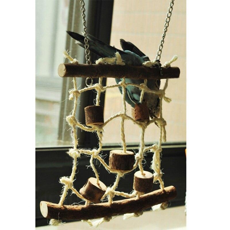 Best Selling Birds Hemp Rope Climbing Net Pet Parrot Chew Toy  Budgie Parakeet Cockatiel Hanging Swing Ladder 11