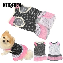 MUQGEW Puppy Dog Princess Dress Dog Dot Pet Dog Clothes Dress Dog Jaket Winter Warm Hondenkleding(China)