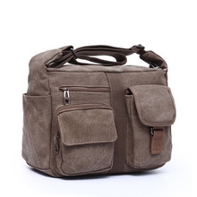 2017 new canvas bag handbag men oblique satchel bags men messenger bag shoulder bag