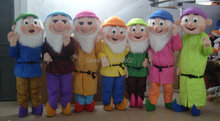 High Quality of The Seven Dwarfs Mascot Costume Christmas Cartoon Character Costumes Free Shipping