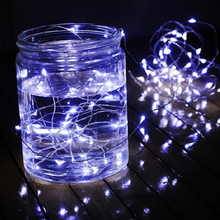 2M 3M 5M 10M waterproof led copper wire string lights wedding party christmas festival decor garland strips 3 AA battery control(China)