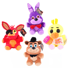 1PCS 25CM Five Nights At Freddy's 4 Kawaii Fnaf World Freddy Fazbear Bear Foxy Bonnie Chica Plush Stuffed Animal Kids Toys Doll
