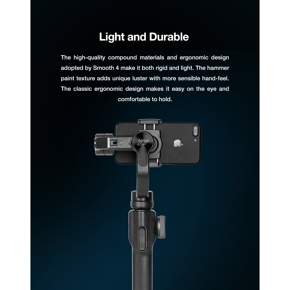 ZHIYUN Official Smooth 4 3-Axis Handheld Smartphone Gimbal Stabilizer VS Smooth Q Model for iPhone X 8Plus 8 7 6S Samsung S9S8S7 8
