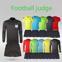 2017 18Jersey Soccer Judge Uniform Professional Soccer Referee Clothing Football Referee Jersey Black Yellow Green Blue(China)