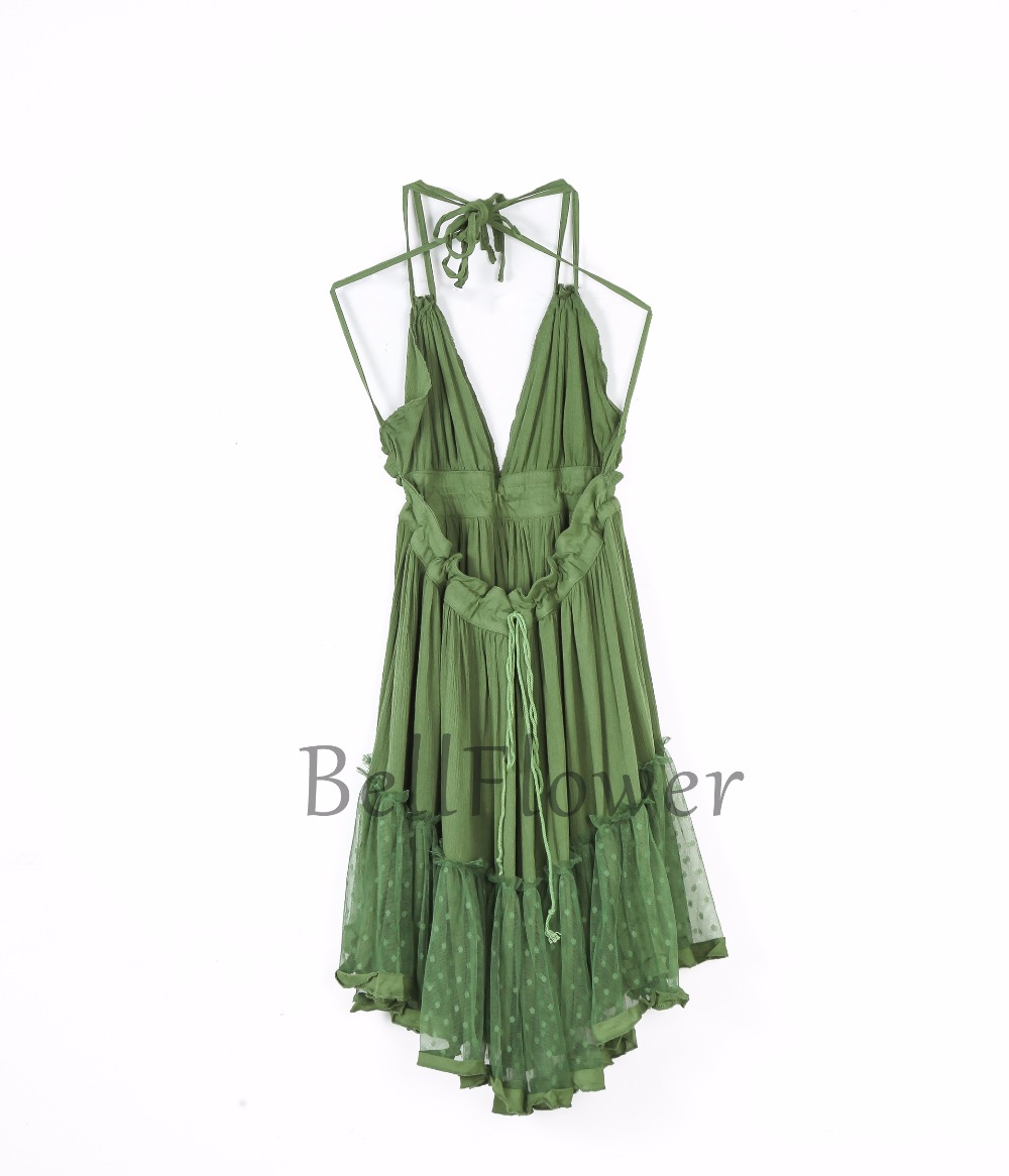 BellFlower 17 Summer Bohemian Women Mini Dress Backless Beach Dress Holiday Boho Strapless Sexy Ball Gown Hippie Chic Dress 13