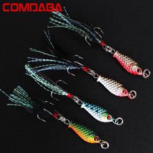 1 pcs 5cm/4.7g Small Minnow Metal Fishing Wobblers Crankbait Lure 3d Eyes Baits Artificial Bait With Feather Fishing Tackle