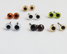 70pcs/lot new arrvial 6/8/10/12/14/16mm glass toy eyes with pin for diy handcraft maerials--color option(China)