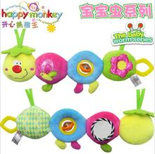 Top sale 47cm soft Baby Toys Musical stuff Caterpillar Cute worm Ring Bell Teether Animal Plush creative Doll Early Educational