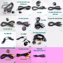1x Game cable USB Cable Power Charging line for PS3 PS4 PSP NDS 3DS NDSI GBA SP Sega Saturn new 3DS new 3DSLL/XL ...