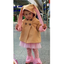 Easter Costume for 0-5Y Girls Lovely Bunny Cotton Coat Jacket Baby Girl Clothes Cartoon Rabbit Outfits Children Hooded Outerwear