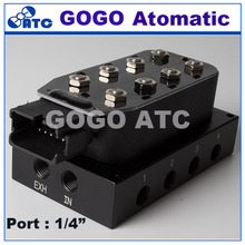 1/4 port AA-VU 8 corner solenoid valve unit , Air suspension valve block Without Cable plug and controller(China)