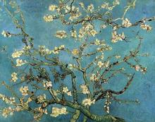 100% Hand-painted Home Decoration Oil Painting Van Gogh Blossoming Almond Tree Famous Artist Painting Canvas Art Picture